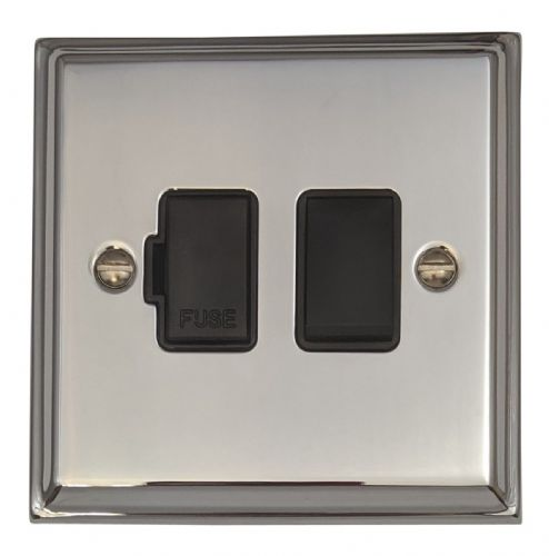 G&H DC57B Deco Plate Polished Chrome 1 Gang Fused Spur 13A Switched